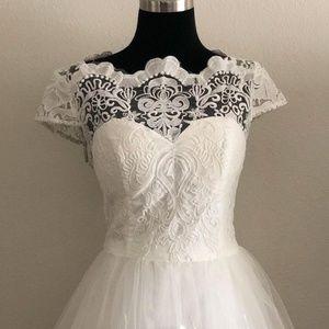 White Lace Dress 1950s Vintage Style
